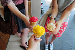 Sydney. Ice cream. (Sarah McNeil) Tags: girls food cute ice sarah dawn amy sydney tan cream borrell mcneil