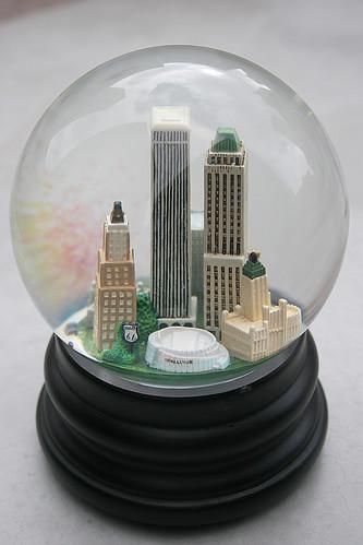 Tulsa Snow Globe