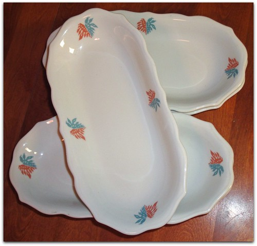 Syracuse china relish pickle plates