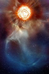 Estrella en explosión
