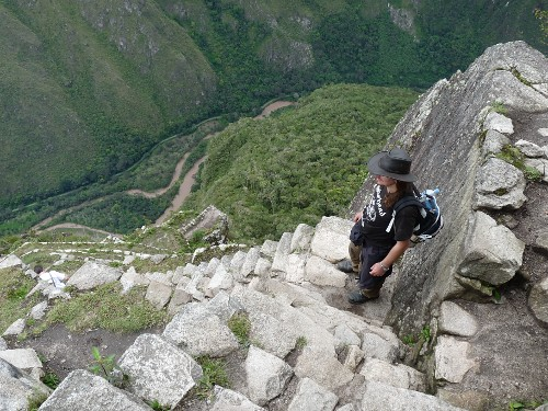Abstieg vom Waynapicchu