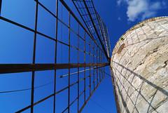 Windmill - Trapani Saline - Sicily (Giuseppe Finocchiaro) Tags: blue sky windmill nikon blu cielo sicily sicilia wwf mulino trapani oasi paceco flickrdiamond