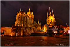 Erfurt (MK|PHOTOGRAPHY) Tags: night germany deutschland thüringen pentax nacht erfurt dom thuringia matthias hdr körner sigma1020 k200d mattkoerner1 stseverinkirche