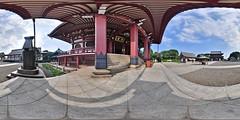 Ikegami Honmon-ji Temple : Main Hall (heiwa4126) Tags: panorama japan geotagged temple 360 panoramic handheld 360x180 360° 360°x180° ptgui equirectangular panotool nikond90 hapala geo:lon=139705061 heiwa4126 360‹x180‹ 360‹ simonspanotool geo:lat=35578683