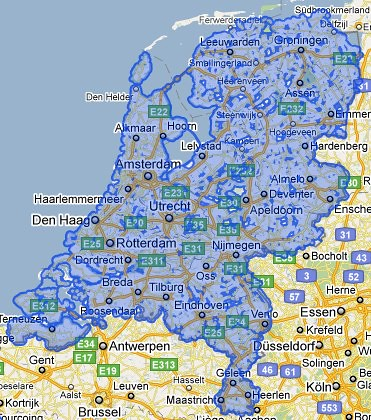 Google Streetview coverage Netherlands
