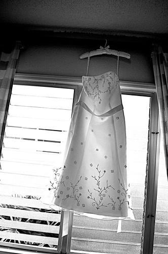 wedding dress - black & white