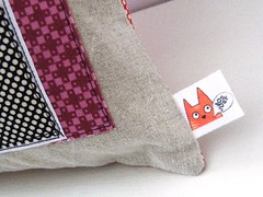 the cat ... (monaw2008) Tags: house cat handmade linen wip fabric applique reused annax recyceled lillalotta monaw monaw2008 bukiby upcyceled
