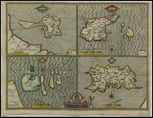 Channel Islands - Guernsey and Jersey -- John Speed proof maps 1605-1610