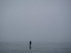 on the sea (jeff schultz photography) Tags: ocean sea monochrome fog foggy mystical silvery southampton sup glassy realm nohorizon onthesea heavyfog standuppaddle cryderbeach solosurfer lonepaddler