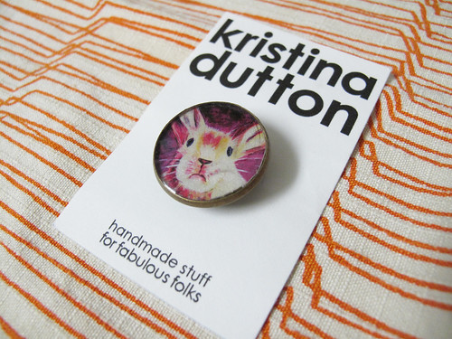 Bunny Pin by Kristina Dutton