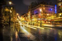 Paris, Gare du Nord at night
