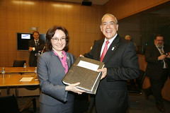 Angel Gurría, Secretary-General  and Elvira Nabiullina, Minister of Economic Development for the Russian Federation, 19 January 2010