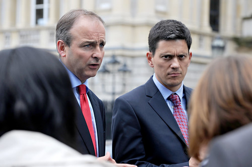 David Miliband and Micheal Martin