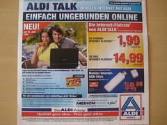 Aldi Talk-Werbung zum neuen Prepaid-Internet-Tarif