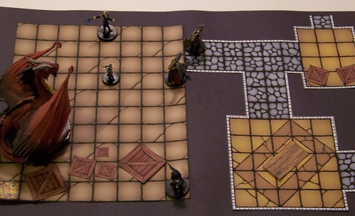 Printable Dungeon Tile Layout