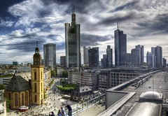 Skyline Frankfurt (rawshooter72) Tags: urban panorama skyline architecture skyscraper canon is frankfurt ixus hdr 82 hdri photomatix tonemapped flickraward chdk