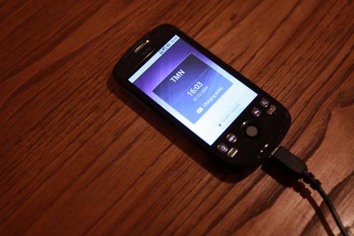 HTC Magic charging 43%