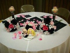 Decorating The Night Before - Bride & Groom Wedding Table