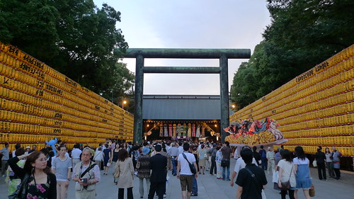 The crowd at Mitama Matsuri