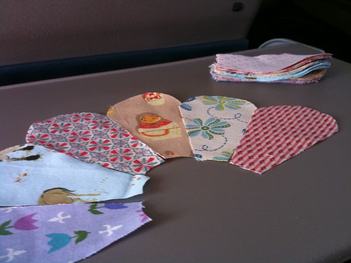 please make sure your tray tables are covered in beautiful fabric scraps