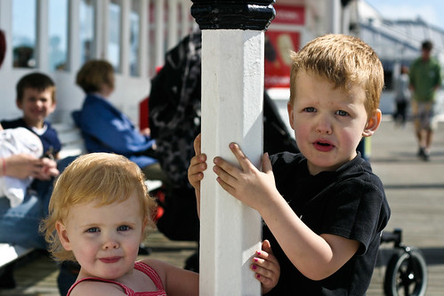 Kids on Brighton Pier
