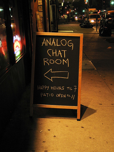 Analog chat room, Park Slope
