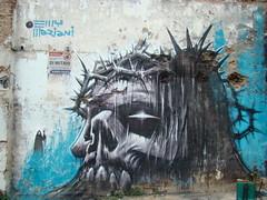 rey jesus (emy mariani) Tags: de mural jesus satan emy mariani calavera sabath bastardo