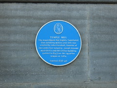 Photo of John Marshall and Joseph Bonomi blue plaque