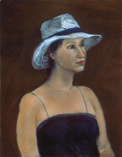 Woman in White Straw Hat / 帶白草帽的女人 / Frau mit weißem Strohhut
