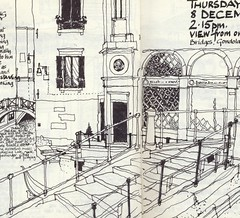Venice  from Locando Orseolo (skyeshell) Tags: venice buildings sketch drawing drawings sketchbook locationdrawing pleinairdrawing urbansketches sketchbookjournal drawingonthespot