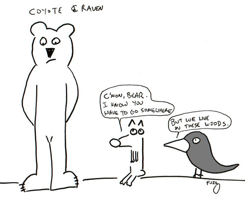 366 Cartoons - 205 - Coyote and Raven