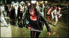 Some days, we're just out for blood - Day 3/365 (Von Wong) Tags: street green walking death blood zombie montreal surreal freaky creepy freak wierd morbid horror corpse zombies maccabre shuffling zombiewalk palid vonwong montrealzombiewalk newworldconspiracy