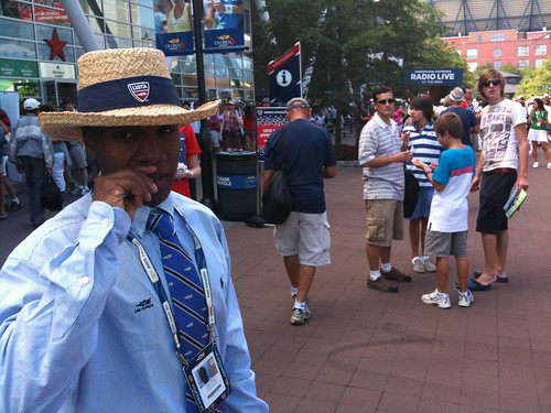 US Open greeter