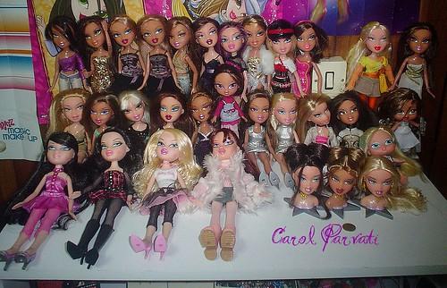All my Bratz Dolls