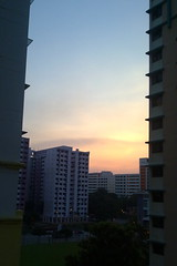 Sunset at HDB estate