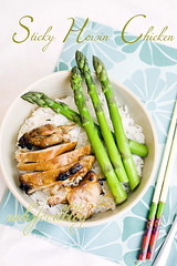 Speedy meal! (anhsphoto_busy!!) Tags: chicken rice asparagus anhsphoto