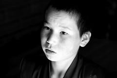 Portrait of a novice (... Arjun) Tags: travel portrait blackandwhite bw 15fav monochrome 1025fav contrast 510fav temple iso800 sketch blackwhite buddha buddhist picture dramatic monk buddhism negativespace mongolia study monastery photograph f56 2009 description representation portrayal godess likeness manchu novice 105mm depiction yongzheng canonef24105mmf4lis visualrendering bluelist amarbayasgalant amarbayasgalantkhiid zanabazar canoneos5dmarkii selengeaimag canon5dmarkii northernmongolia manaltemple bürengiinnuruu