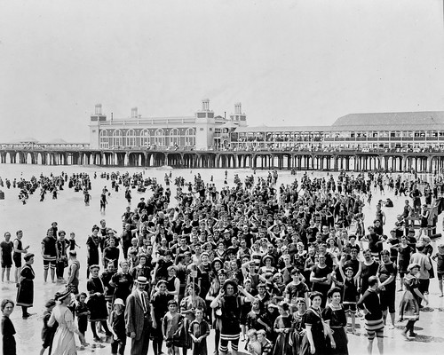 Crowd on beach at Atlantic City, New Jersey
