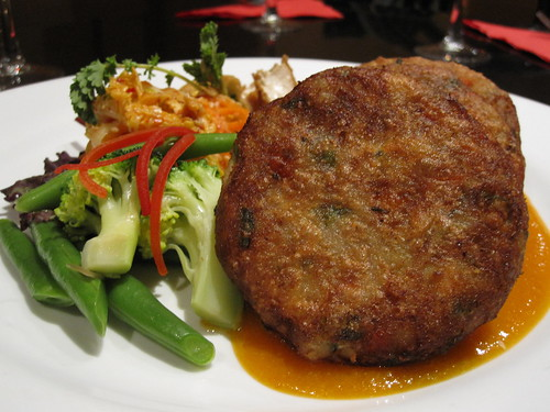 croquettes in a ginger and carrot sauce
