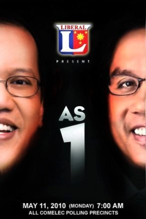 A spoof on the poster of AS ONE, Martin Nievera and Gary Valencianos recent concert featuring the Noynoy-Mar Tandem.