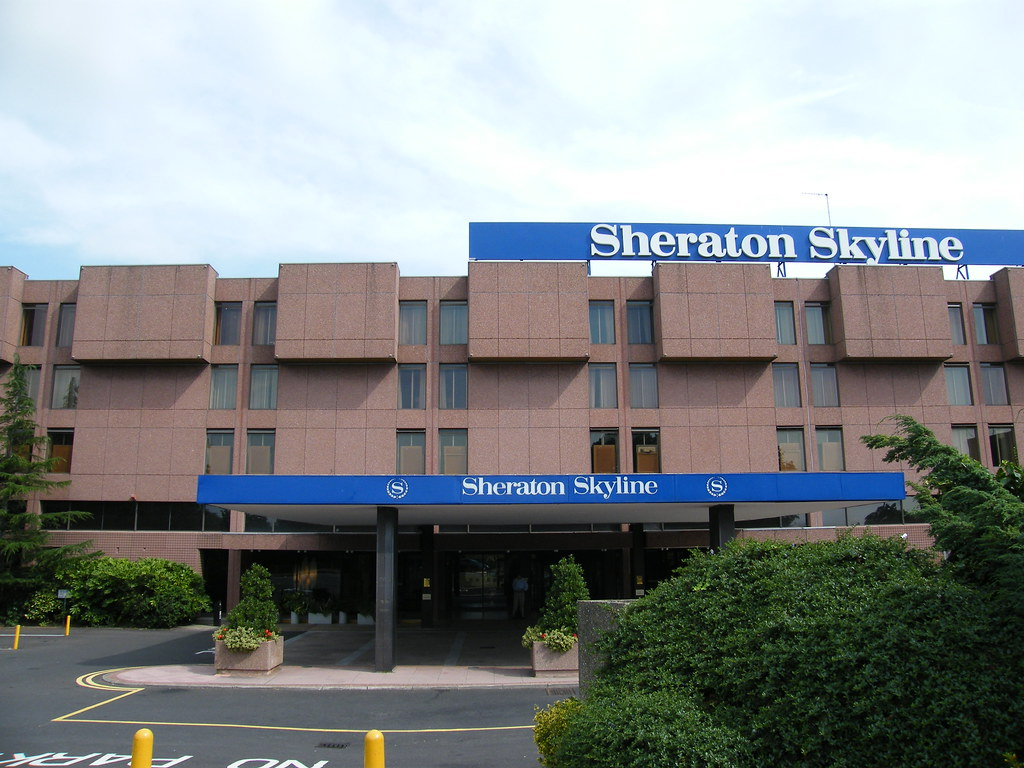The Sheraton Skyline Hotel at London Heathrow Airport in the summer 2008.