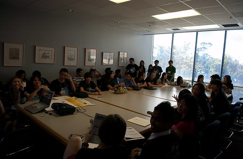 my social networking etiquette workshop, before they had to kick out half of this room for overpopulation