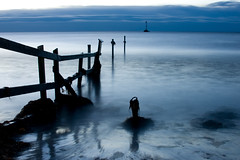 Good morning nothing (Joakim Bergquist) Tags: sea sky art water fence sweden