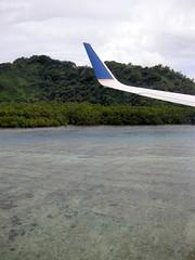 Landing at Kosrae Airport, Micronesia (mattk1979) Tags: ocean above coral plane island islands pacific flight aerial atoll federatedstatesofmicronesia continentalairmicronesia