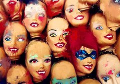 heads will roll on the floor (Brish Maria) Tags: barbie heads helloween