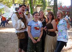 Friendly Group (Flan de Coco) Tags: friends silly smile sunshine cheese fun wings funny flirt group sunny trf fairy smiley sherwoodforest renfaire playful 2009 renaissance renfest faerie partners fairie texasrenaissancefestival 1001dreams toddmission