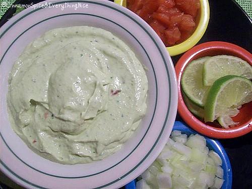 Cool Guacamole & Taco Fixin's