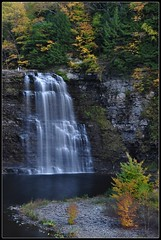 South flume, Salmon River Falls (toadsqueaker) Tags: longexposure autumn fall vertical creek river flow october stream perspective upstateny foliage waterfalls orwell flowing salmonriver cascade tughill plunge escarpment