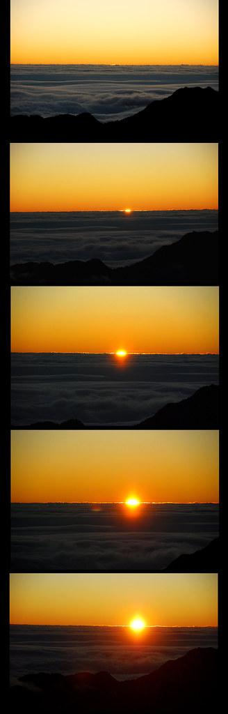 奇萊北峰日出