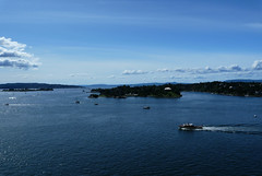 #0534 View on Oslo Port (Fjordblick) Tags: sky water oslo norway clouds port norge scenery wasser harbour norwegen himmel wolken noruega hafen departure vann norvegia norsk norvège
